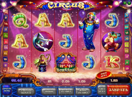 La comparsa di slot Circus HD