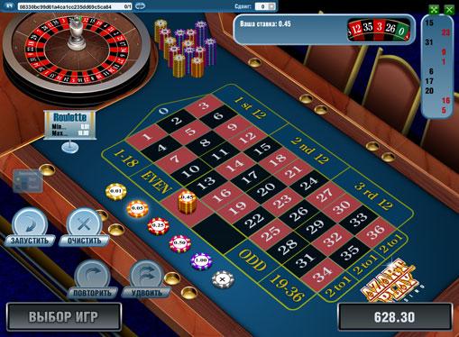 Scommettere sul rosso nello slot European Roulette