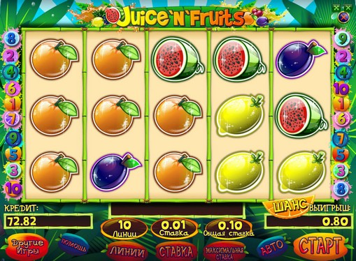 Bonus combinazione di slot Juice and Fruits