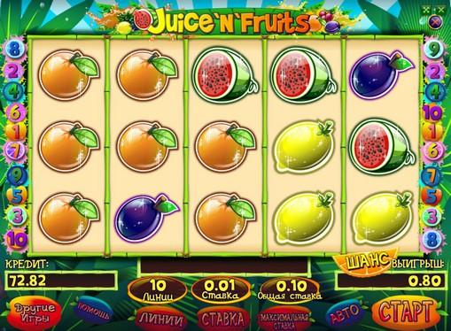 Bonus combinazione di slot Juice and Fruits