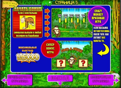 Gioco bonus di slot Crazy Monkey