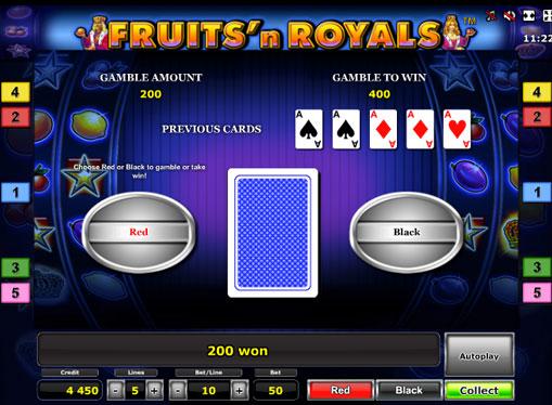 Gioco di slot doppio Fruits'n Royals Deluxe