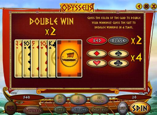 Gioco di slot doppio Odysseus