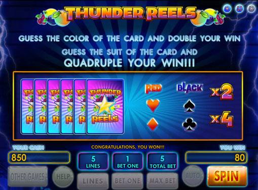 Gioco di slot doppio Thunder Reels