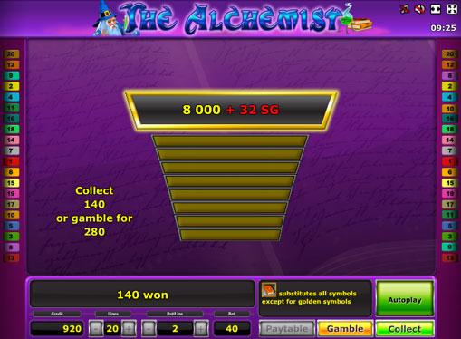 Gioco di slot doppio The Alchemist