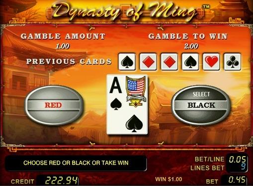 Gioco di slot doppio Dynasty of Ming