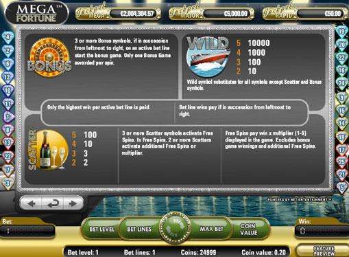 Giri gratuiti di slot Mega Fortune