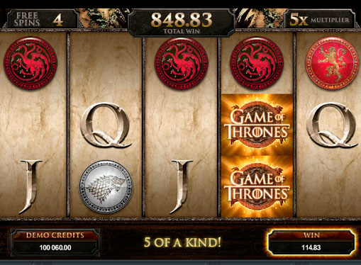 Macchina da gioco Game of Thrones a soldi veri