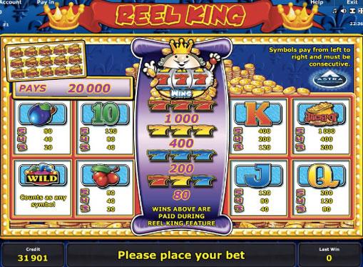 Segni di gioco di slot Reel King