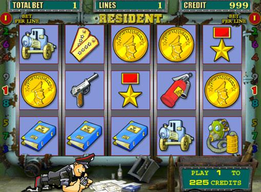 Resident gioca allo slot online