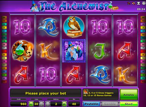 The Alchemist gioca allo slot online