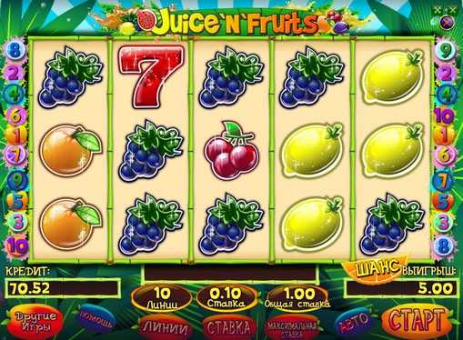 La comparsa di slot Juice and Fruits