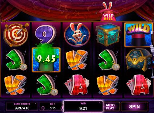 Slot online per il cappello magico Rabbit in the Hat
