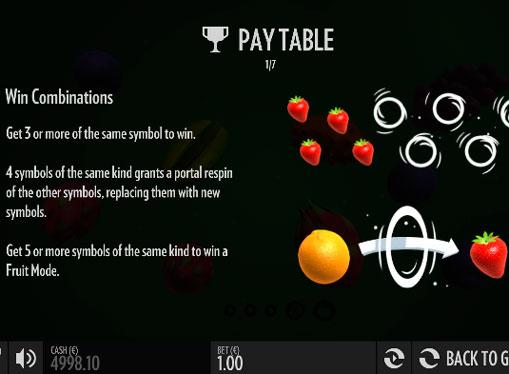 Meccanico non standard di slot Fruit Warp
