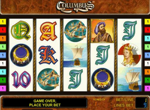 Columbus gioca allo slot online per soldi