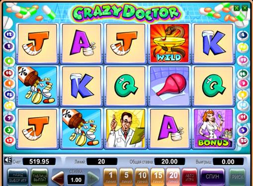 Crazy Doctor gioca allo slot online per soldi