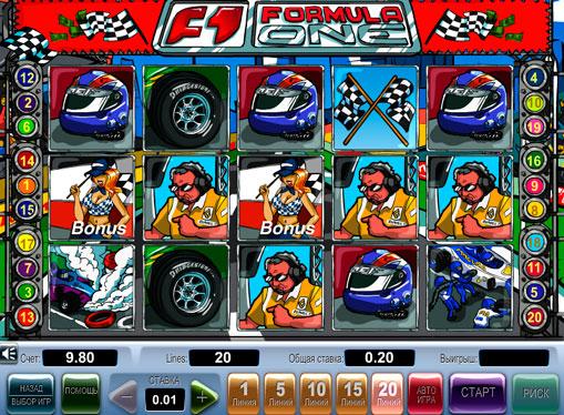 Formula 1 gioca allo slot online per soldi