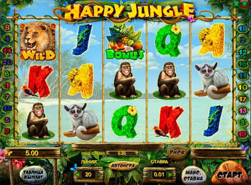 Happy Jungle gioca allo slot online