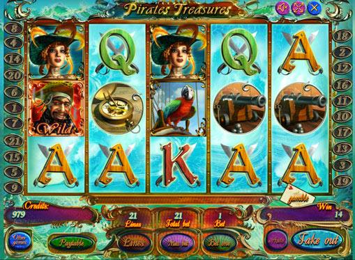 Pirates Treasures gioca allo slot online per soldi