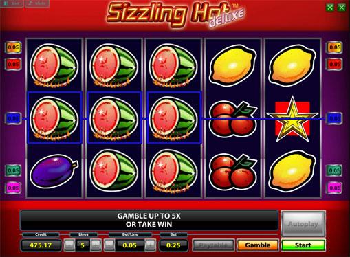 Premi di slot Sizzling Hot Deluxe