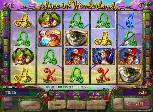 Bonus combinazione di slot Alice in Wonderland