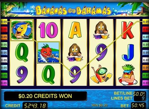 I rulli di slot Bananas go Bahamas