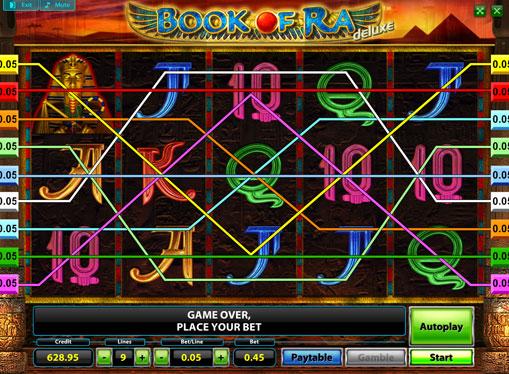 I rulli di slot Book of Ra Deluxe