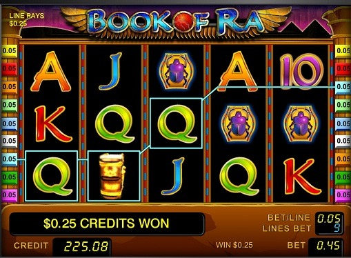 I rulli di slot Book of Ra