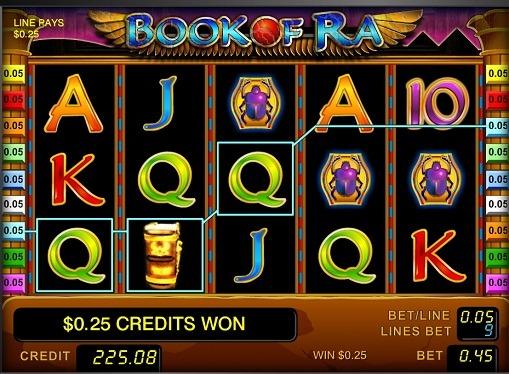 I rulli di slot Book of Ra