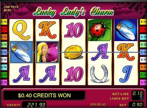 I rulli di slot Lucky Lady's Charm