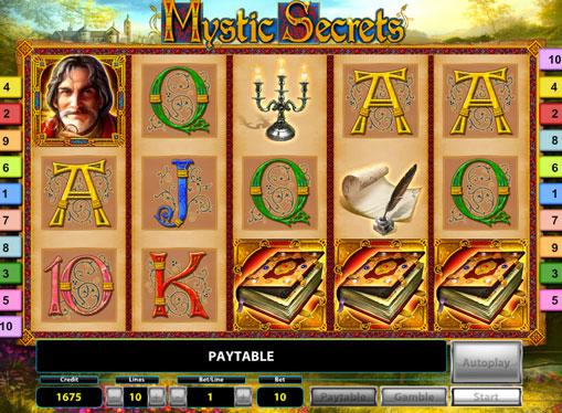 I rulli di slot Mystic Secrets Deluxe