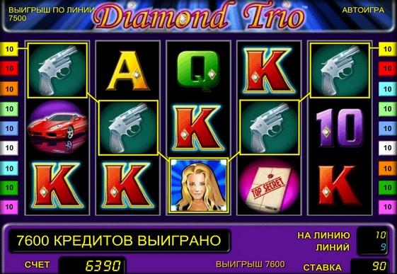 I rulli di slot Diamond Trio