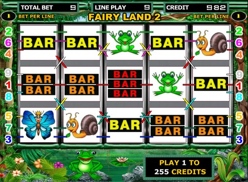 I rulli di slot Fairy Land