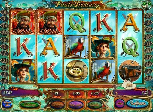 I rulli di slot Pirates Treasures HD