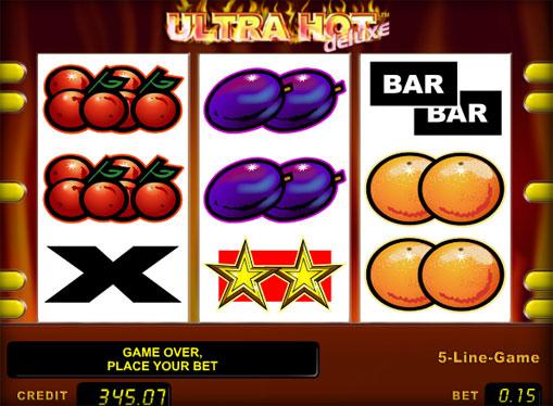 I rulli di slot Ultra Hot Deluxe