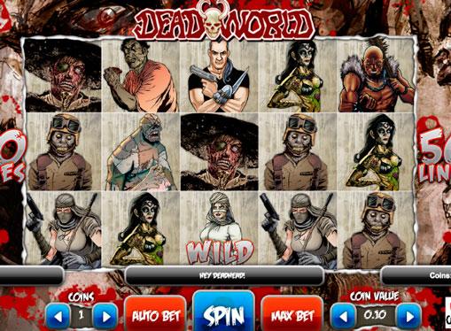 I rulli della macchina da gioco Deadworld