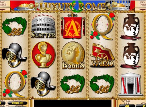 I rulli di slot Luxury Rome