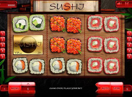 I rulli della macchina da gioco Sushi