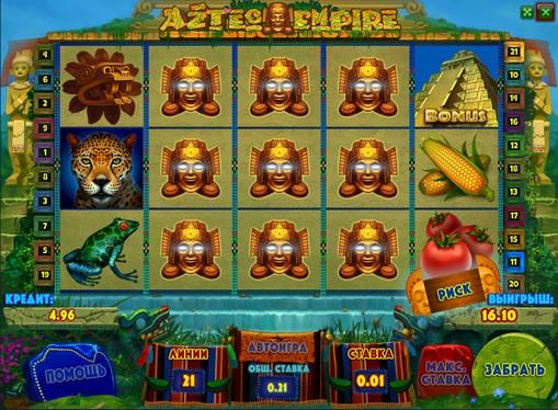 I rulli di slot Aztec Empire