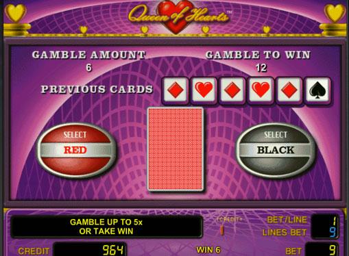 Gioco di slot doppio Queen of Hearts