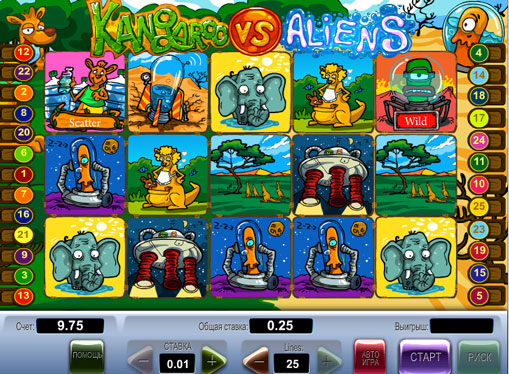 Kangaroo vs Aliens gioca allo slot online per soldi