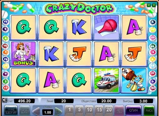 I segni dello slot Crazy Doctor