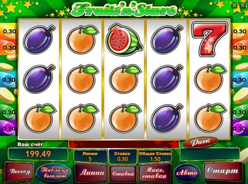 I segni dello slot Fruits n Stars