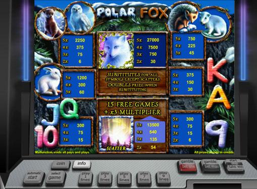 I segni dello slot Polar Fox