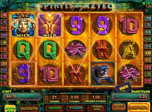 I segni dello slot Spirits of Aztec