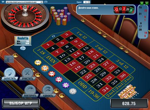Il tavolo di European Roulette