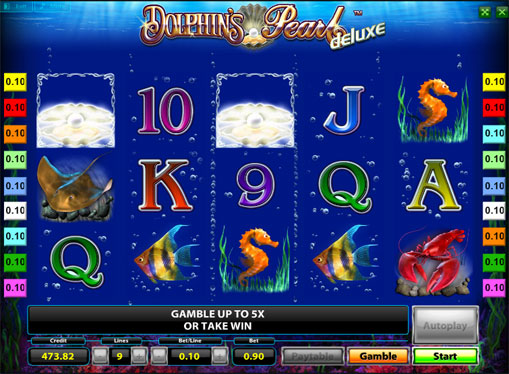 Linea vincente di slot Dolphins Pearl Deluxe