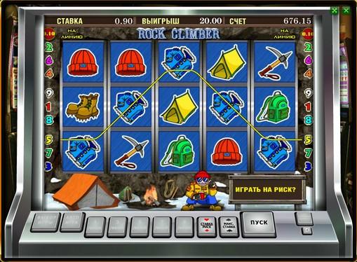 Linea vincente di slot Rock Climber