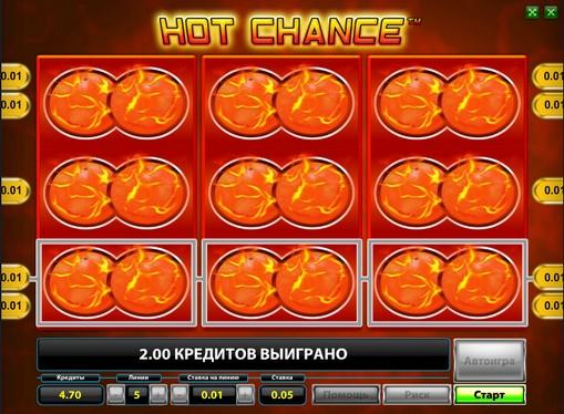 Linea vincente di slot Hot Chance